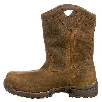 Men's-Carolina-10-inch-Lightweight-Waterproof-Composite-Toe-Wellington-Work-Boots-Brown-View4