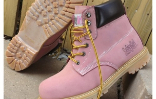 Safety Girl II Steel Toe Waterproof Womens Work Boots - Light Pink5