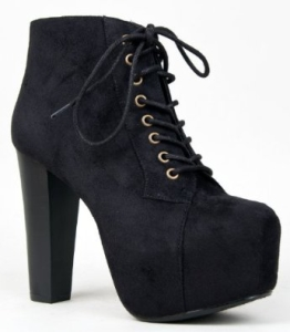 Speed Limit 98 Womens Rosa Chunky High Heel Lace Up Ankle Boot Bootie-1