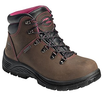 Avenger Safety Footwear Women's Avenger 7125 Women's Waterproof Safety Toe  EH SR Hiker Industrial & Construction Shoe, Brown, 9 2E US