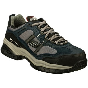 55af9cf557ee Get ultimate comfort and safety with Skechers Men s Work Relaxed Fit Soft  Stride Grinnell Comp!