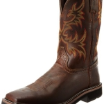 Justin Original Work Boots Men's Stampede Pull-On Square Toe Work Boot Review