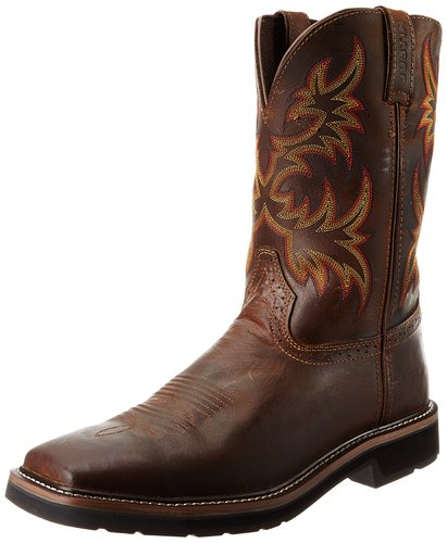 Justin Original Work Boots Men S Stampede Pull On Square