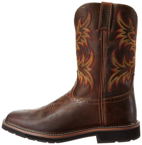 19acfdd92d6 Justin Original Work Boots Men's Stampede Pull-On Square Toe Work ...