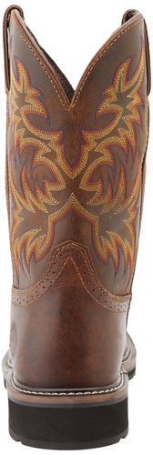 Justin-Original-Work-Boots-Men's-Stampede-Steel-Toe-Square-Toe-Work-Boot-View1