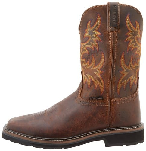 Justin-Original-Work-Boots-Men's-Stampede-Steel-Toe-Square-Toe-Work-Boot-View5