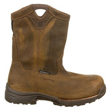 Men's-Carolina-10-inch-Lightweight-Waterproof-Composite-Toe-Wellington-Work-Boots-Brown-View5
