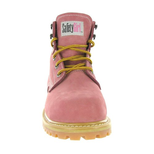 Safety Girl II Steel Toe Waterproof Womens Work Boots - Light Pink1