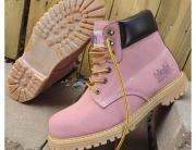 Safety Girl II Steel Toe Waterproof Womens Work Boots - Light Pink5