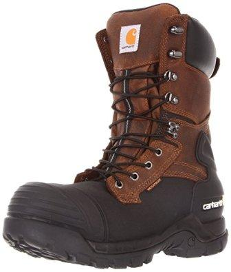Carhartt Men's 10″ Waterproof Insulated PAC Composite Toe Boot