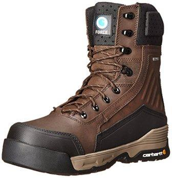 Carhartt Men's 8″ Insulated Waterproof Composite Toe Work Boot With Zipper