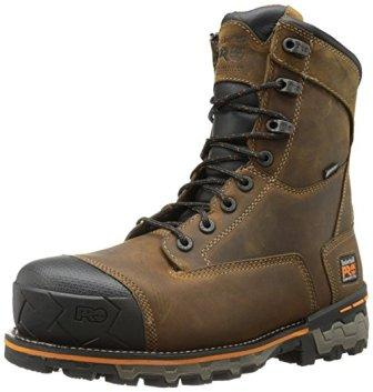 Timberland PRO Men's 8″ Boondock Composite-Toe Waterproof Work Boot
