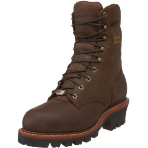 Chippewa Men's 9 inch Waterproof Steel-Toe Super Logger Boot