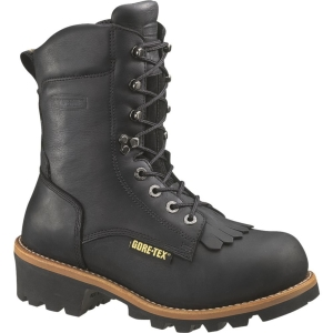 Wolverine 8 inch Buckeye GORE-TEX Safety Toe Logger Boots Black