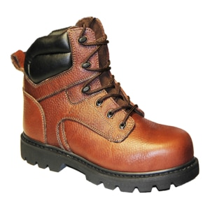 Dr Zen Samson Men's Extra Width Steel Toe Work Boot Leather Lace