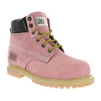 SafetyGirl Steel Toe Waterproof Womens Work Boots – Light Pink (7W) 4fac5b78f3