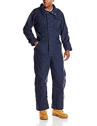 Navy Blue Insulated Coveralls