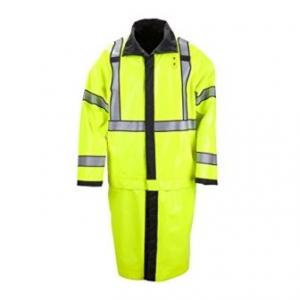 11 Men's Long Reversible Ansi Class 3 High Visibility Rain Coat