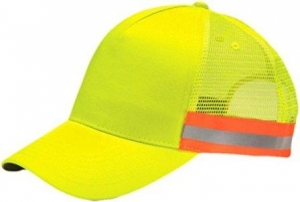 Adams Cap TR102 Reflector High-Visibility Constructed Trucker Cap