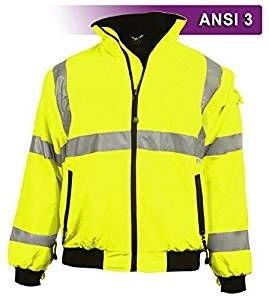 Brite Safety Style 5020 Hi Vis 3-Season Bomber Jacket, water