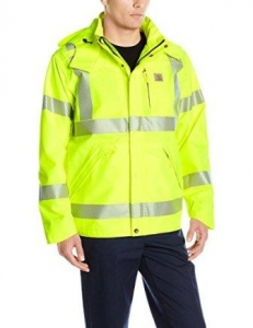 Carhartt Men's High Visibility Class 3 Waterproof Jacket