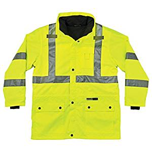GloWear 8385 ANSI High Visibility 4-in-1 Reflective Safety Jacket