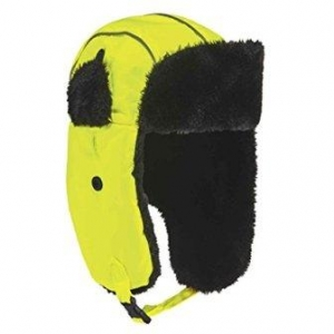N-Ferno 6802 High Visibility Thermal Winter Trapper Hat, Lime, Large/X-Large