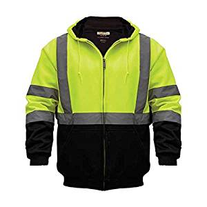 UTILITY PRO UHV425 013 HI VIS HOODED SWEATSHIRT BLACK/YELLOW XL