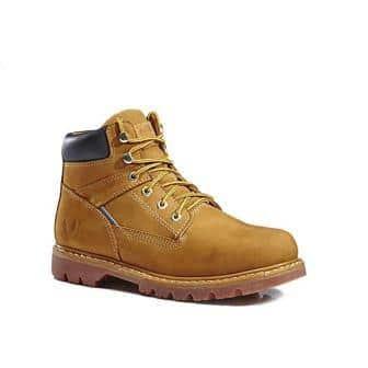 KINGSHOW Men's 1312 7″ Premium Full-Grain Leather Plain Rubber Sole Soft Toe Work Boots
