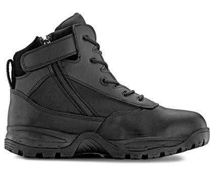 MAELSTROM MEN'S PATROL 6″ TACTICAL DUTY WORK BOOT WITH ZIPPER