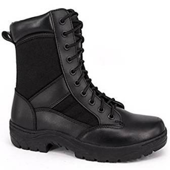 "Men's 8"" inch Military Tactical Boots from WIDEWAY, Full Grain Leather, Water Resistant Boots"