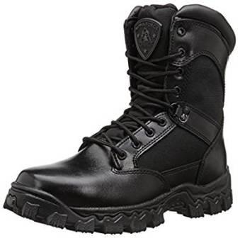 ROCKY DUTY MEN'S ALPHA FORCE 8″ ZIPPER BOOT