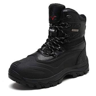 Arctiv8 Men's Insulated Waterproof Construction Rubber Sole Winter Snow Ski Boots