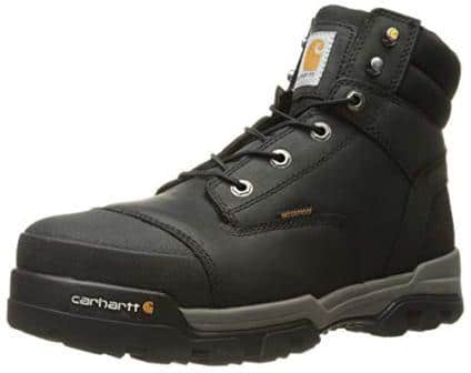 Carhartt Men's 6″ Energy Black Waterproof Composite Toe CME6351 Industrial Boot