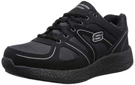 Skechers Men's Burst Slip Resistant Waterproof Work Shoe