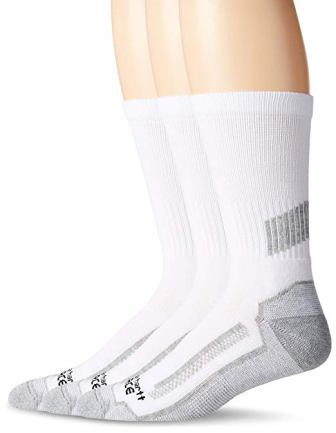 Timberland's Pro Men's 3 Pack Reinforced Heel Toe Work Crew Socks