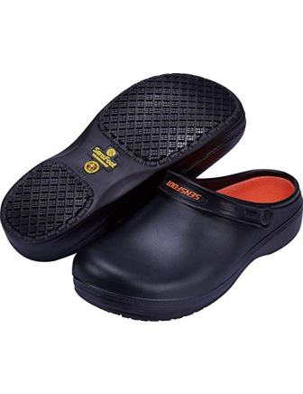 SensFoot Slip Resistant Chef Clogs for Kitchen Non-Slip Work Shoes for Men Women