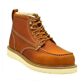 Golden Fox Men's Premium Leather Industrial Construction Moc Work Boots