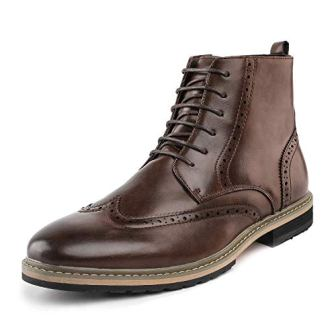 Bruno Marc Men's Bergen Classic Lace Up Oxford Dress Boots