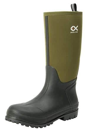 Duck and Fish Men 16″Fishing Hunting Neoprene Rubber Molded Outsole Knee Boot
