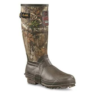 Guide Gear Men's 15″ Insulated Rubber boots, Realtree AP Camo