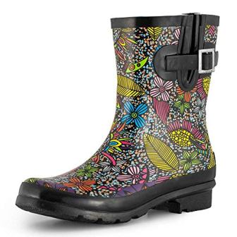 SheSole Women's Waterproof Rubber Rain Boots
