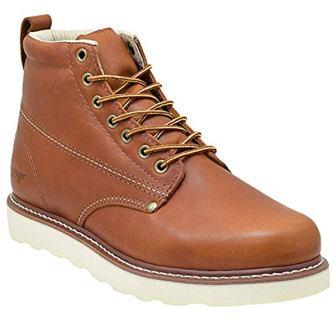Golden Fox Men's Plain Toe Work Boots
