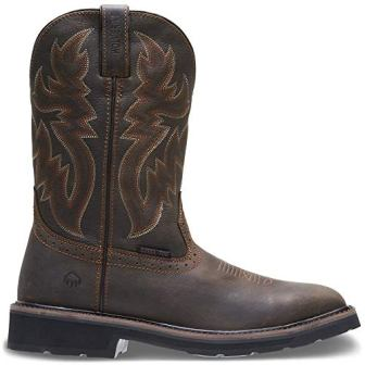 Wolverine Men's Rancher 10″ Square Toe Steel Toe Work Boot