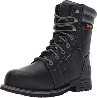 Caterpillar Women Echo Waterproof Steel Toe Black Construction and Industrial Shoe