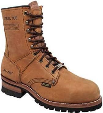 AdTec Men's 9″ Steel-Toe Logger Boot