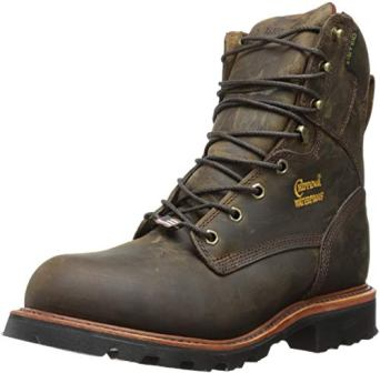 CHIPPEWA 8-INCH WATERPROOF STEEL-TOE BOOTS