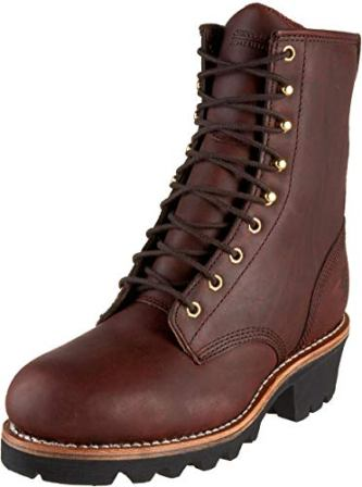 CHIPPEWA MEN'S 8-INCH STEEL-TOE BOOTS