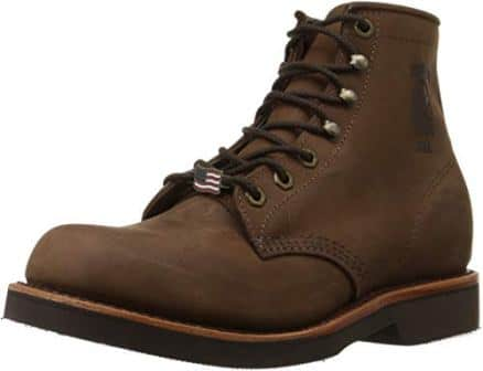 CHIPPEWA SIX-INCH HANDCRAFTED LACE UP BOOTS