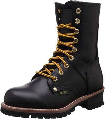 Women's 9″ Logger Black Work Boot